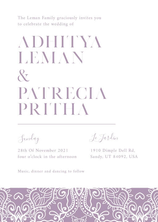 Chitrita Wedding Invitations - wedding invitations