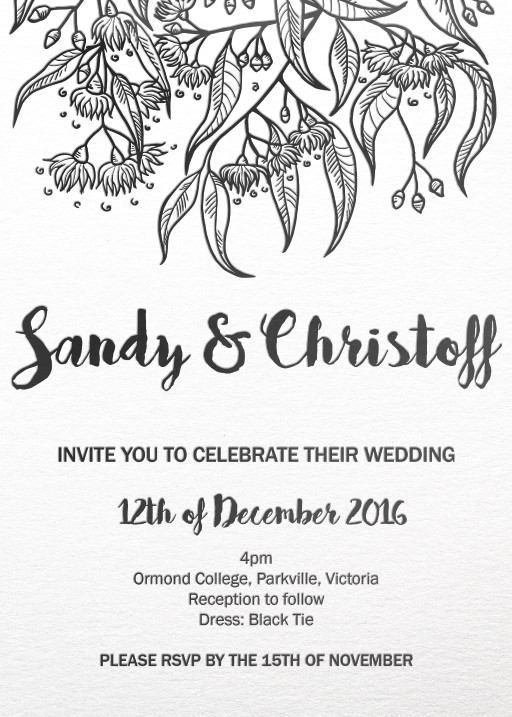 Australiana - Invitations