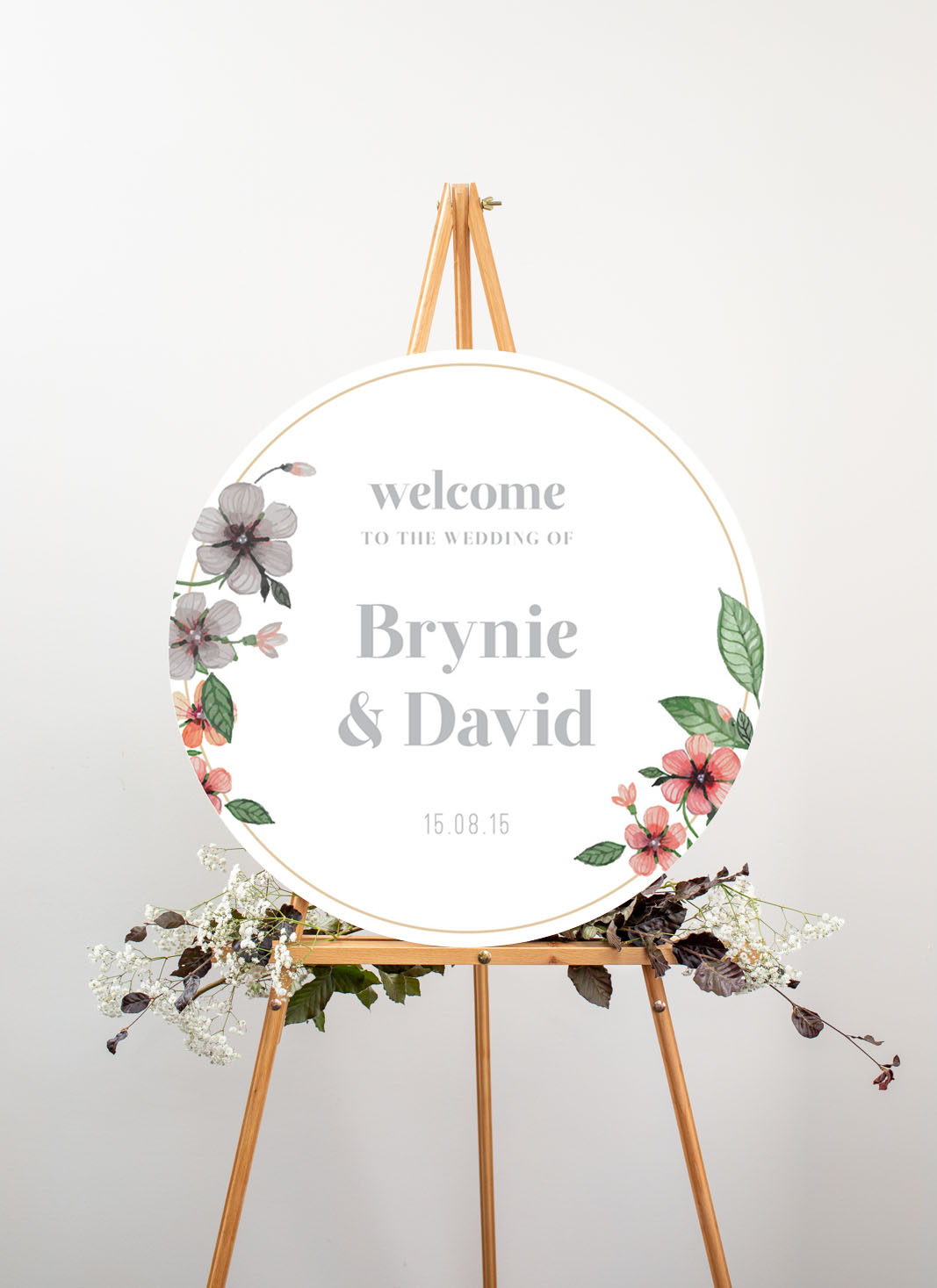 Floral Circle Invitation Set - Wedding Signs