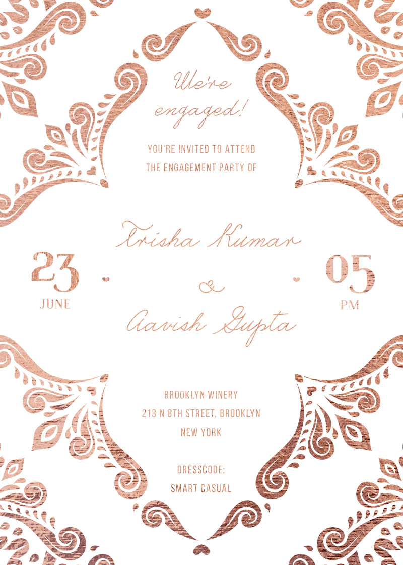 Adra - Engagement Invitations
