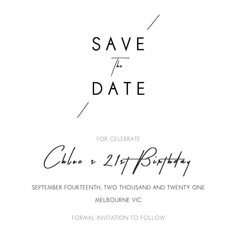 Modern Mode - Birthday Invitations