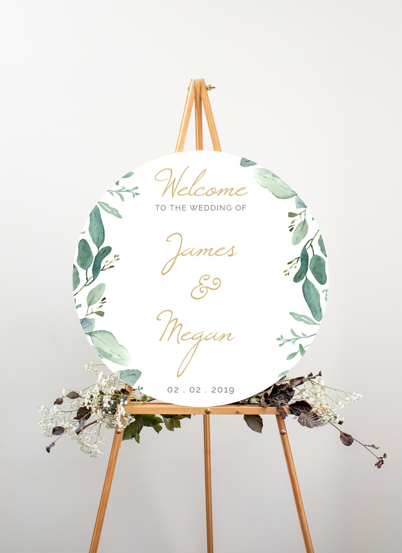 Botanical Geo - Wedding Signs