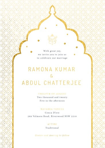 Classic Mumbai Wedding Invitations - wedding invitations