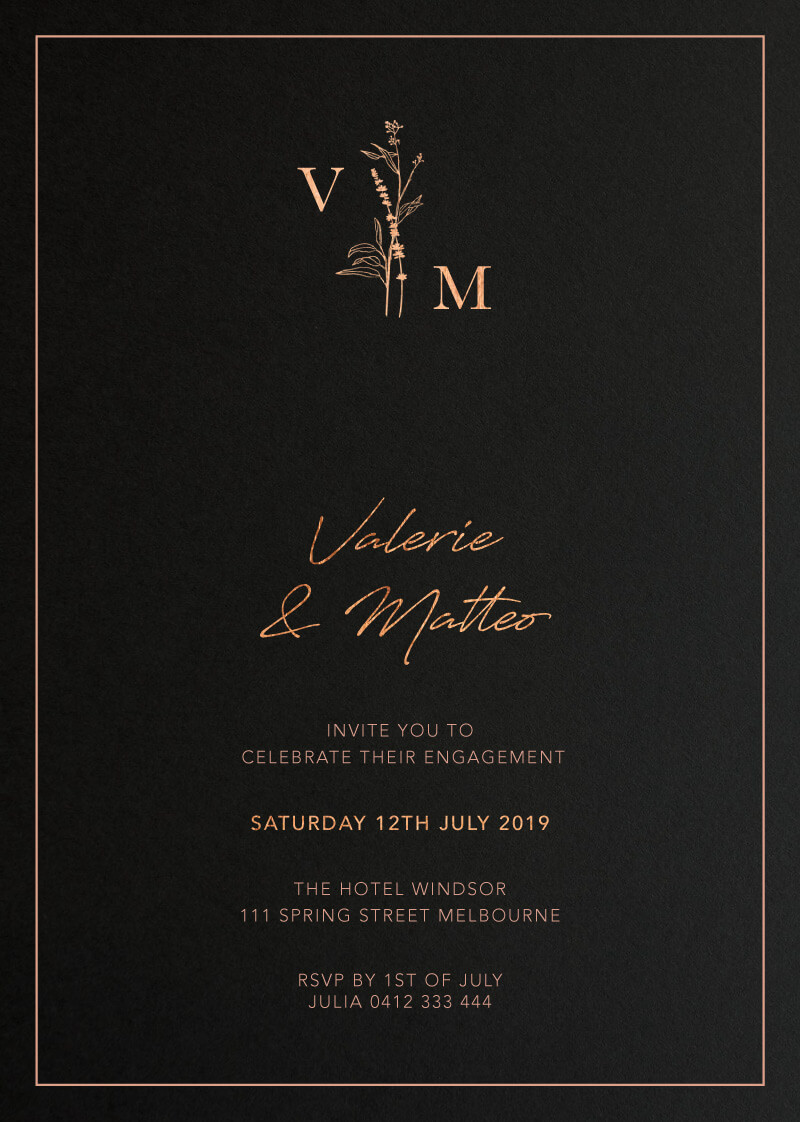 Dark Romance - Engagement Invitations