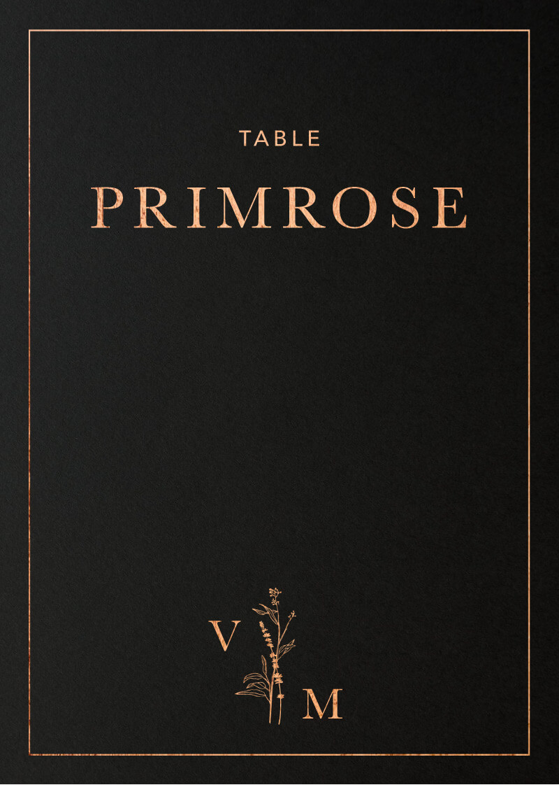 Dark Romance - Table Numbers