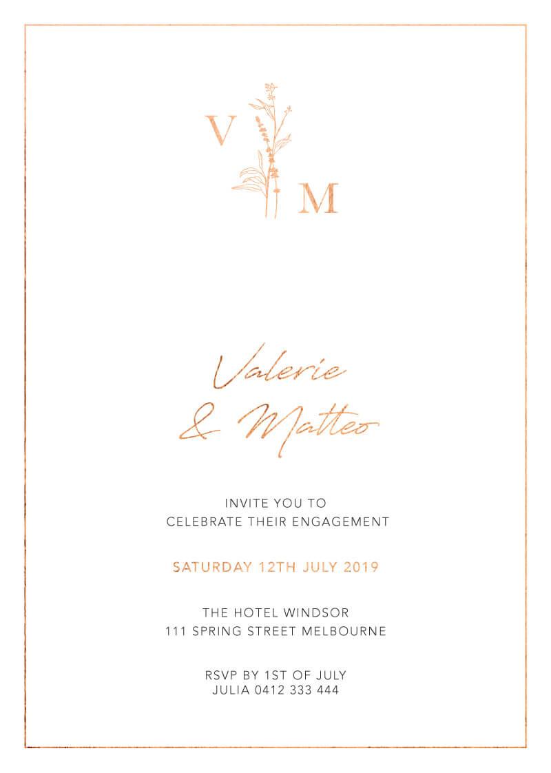 Dark Romance - Engagement Invitations