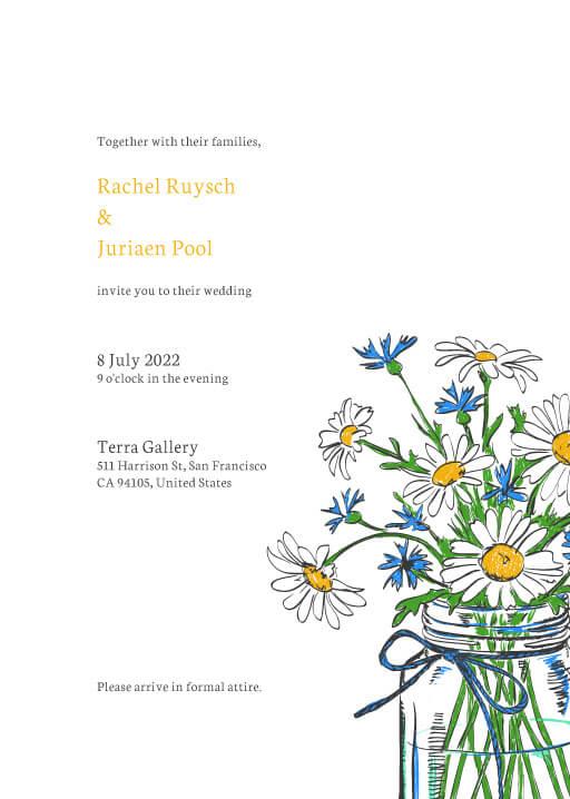 Daisy Mason Wedding Invitations - wedding invitations