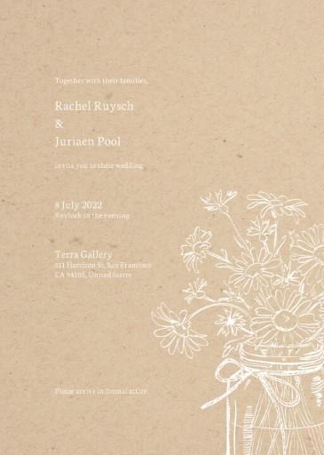 Daisy Mason Kraft Wedding Invitations - wedding invitations