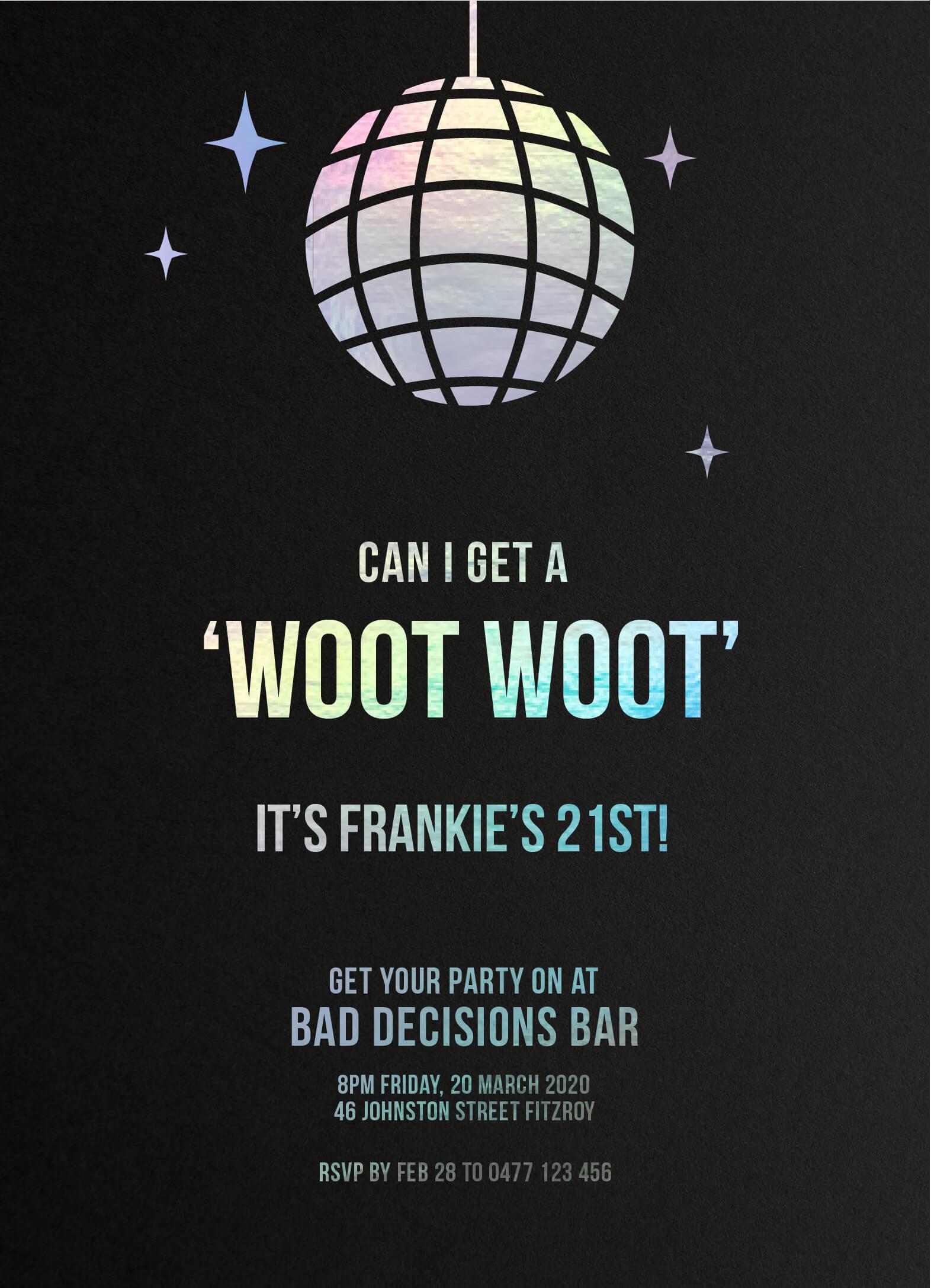 Woot Woot - Birthday Invitations