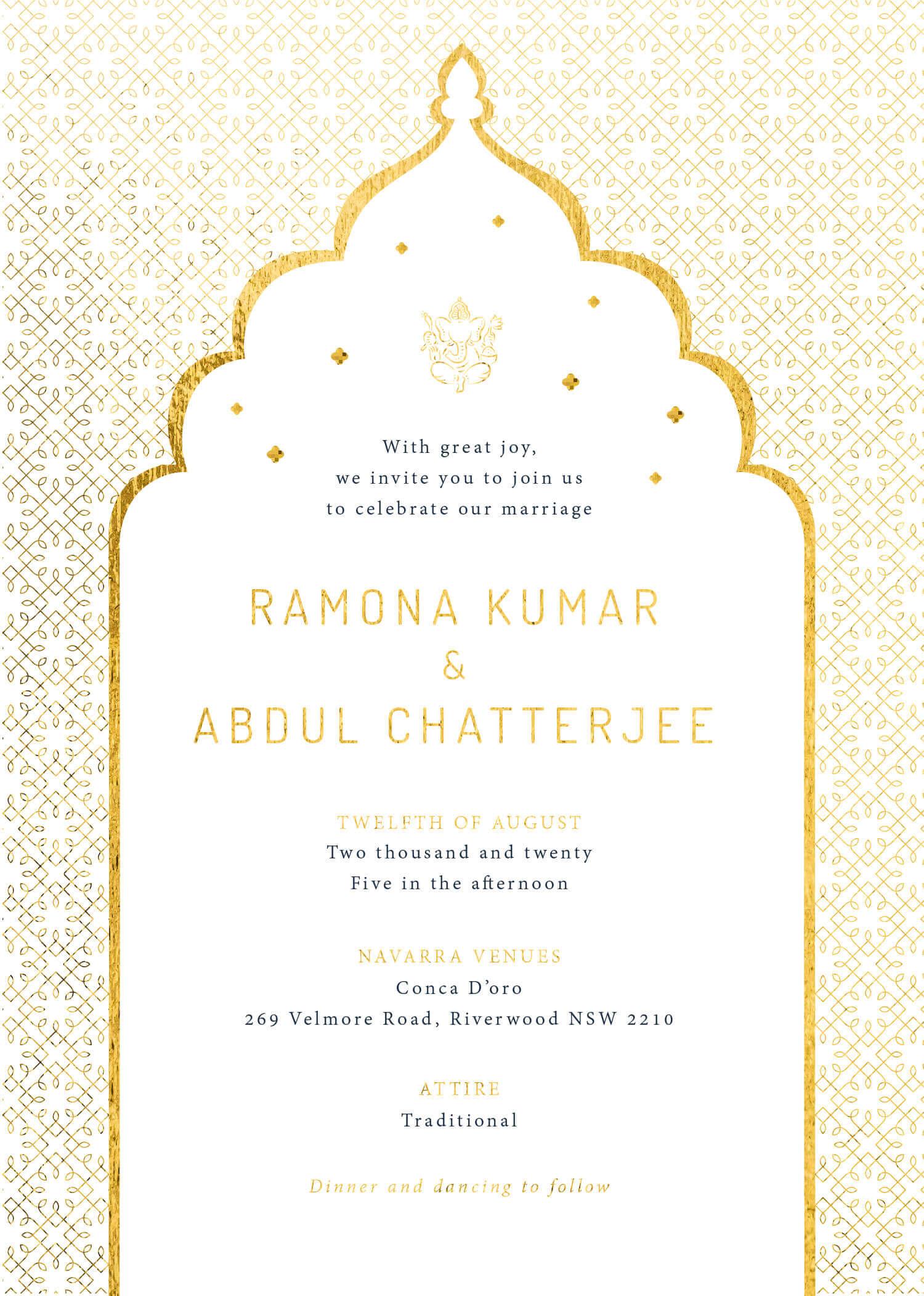 Classic Mumbai - Wedding Invitations