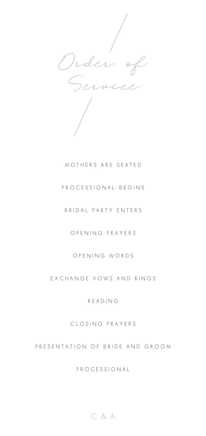 Blanc Mode - Wedding Programs