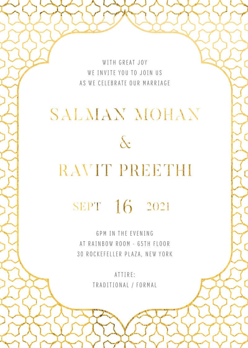 Under a Mandap - Wedding Invitations