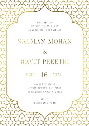 Under a Mandap Wedding Invitations - wedding invitations