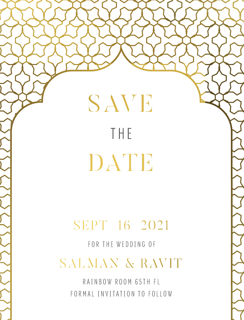 Under a Mandap - Save The Date