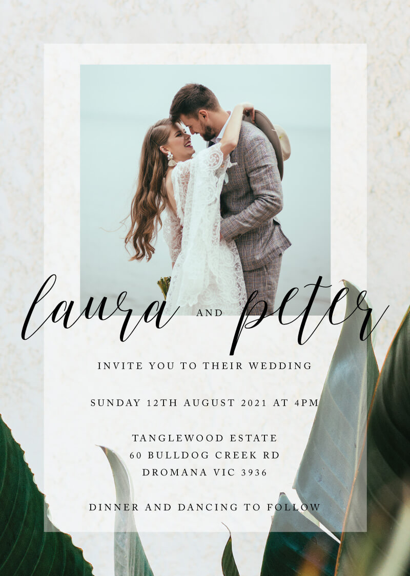 Tropical Leaves - Wedding Invitations
