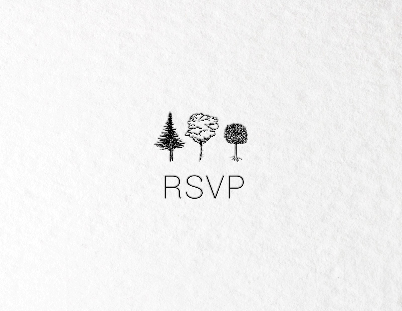 Paper Trees Wedding Set - RSVP