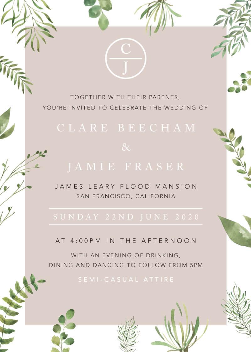 Botanical Fun - Wedding Invitations