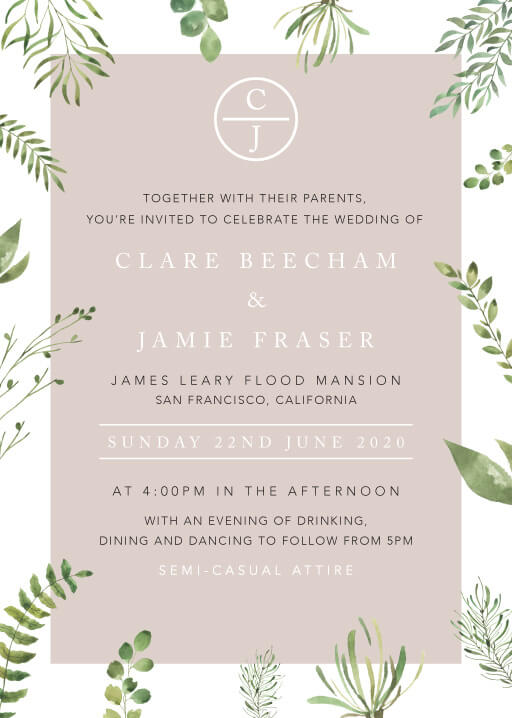 Botanical Fun Wedding Invitations - wedding invitations