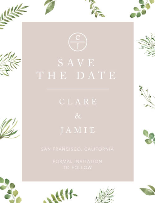 Botanical Fun - Save The Date