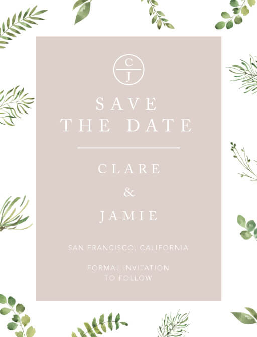 Botanical Fun Save The Date - Save The Date
