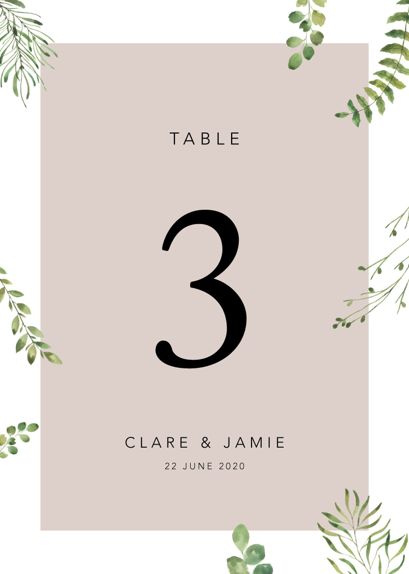 Botanical Fun - Table Numbers