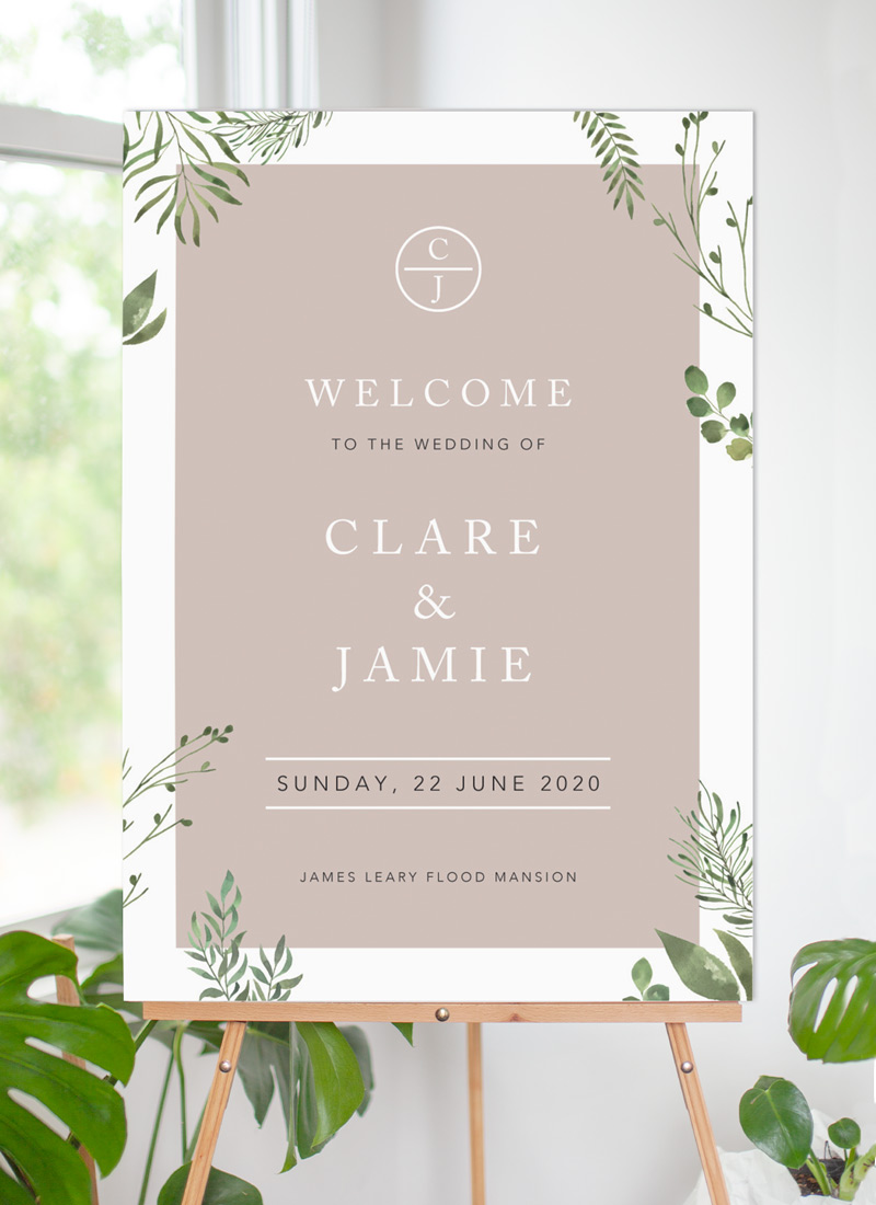 Botanical Fun - Wedding Signs