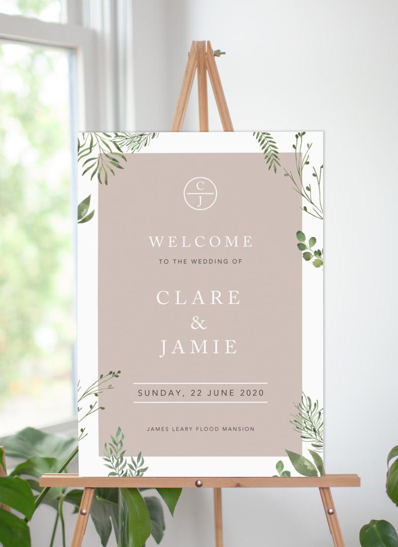 Botanical Fun - Wedding Signs