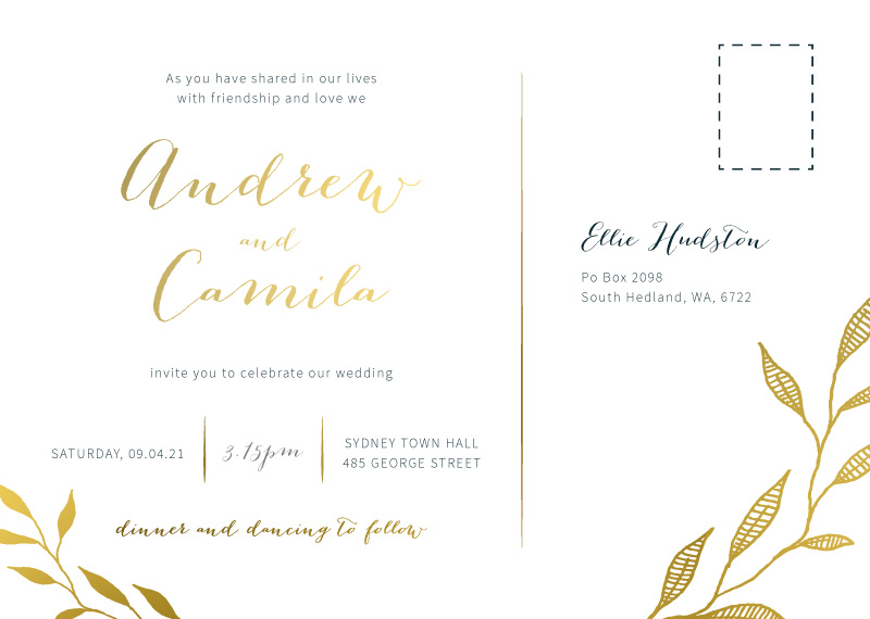 Leaves - Wedding Invitations