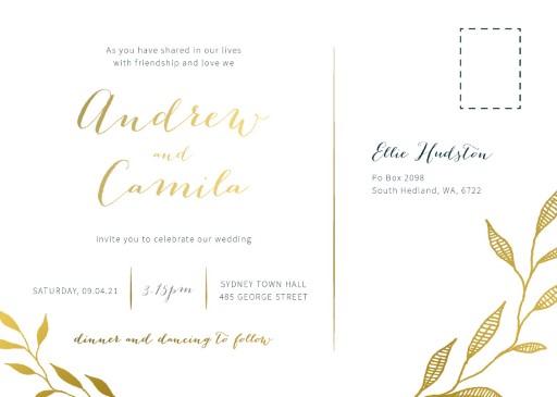 Leaves Wedding Invitations - wedding invitations