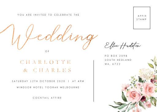 Burnt Butter Cakes Wedding Invitations - wedding invitations