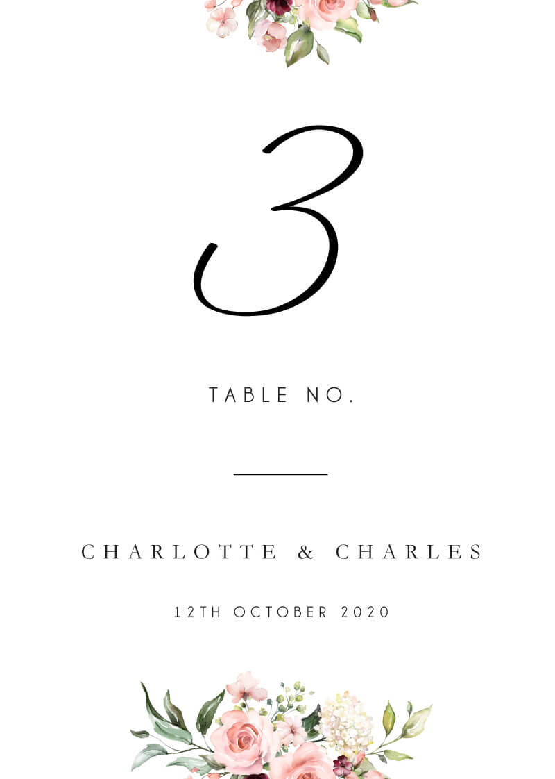 Burnt Butter Cakes - Table Numbers