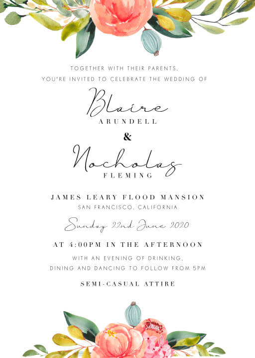 Spring Bouquet Wedding Invitations - wedding invitations