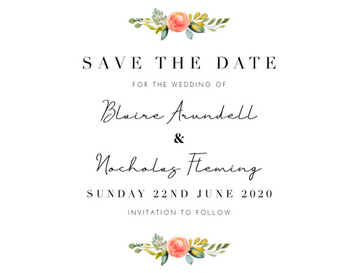 Spring Bouquet Save The Date - Save The Date