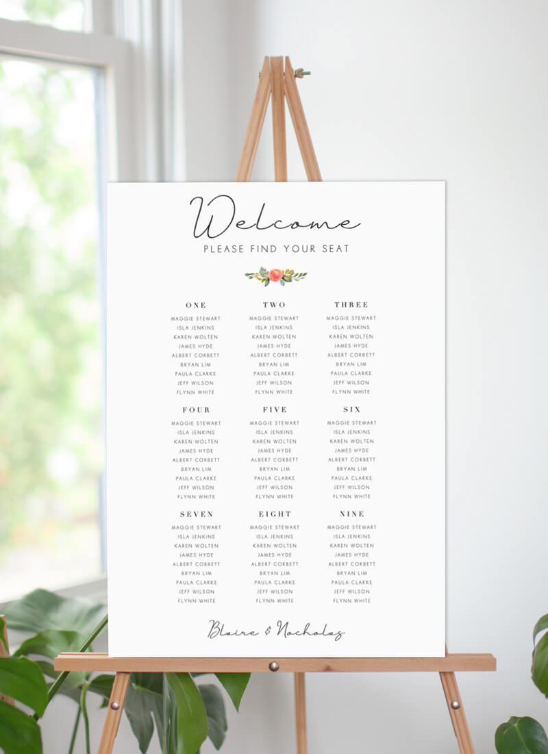 Spring Bouquet - Seating Charts