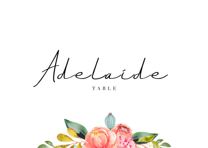 Spring Bouquet - Table Numbers