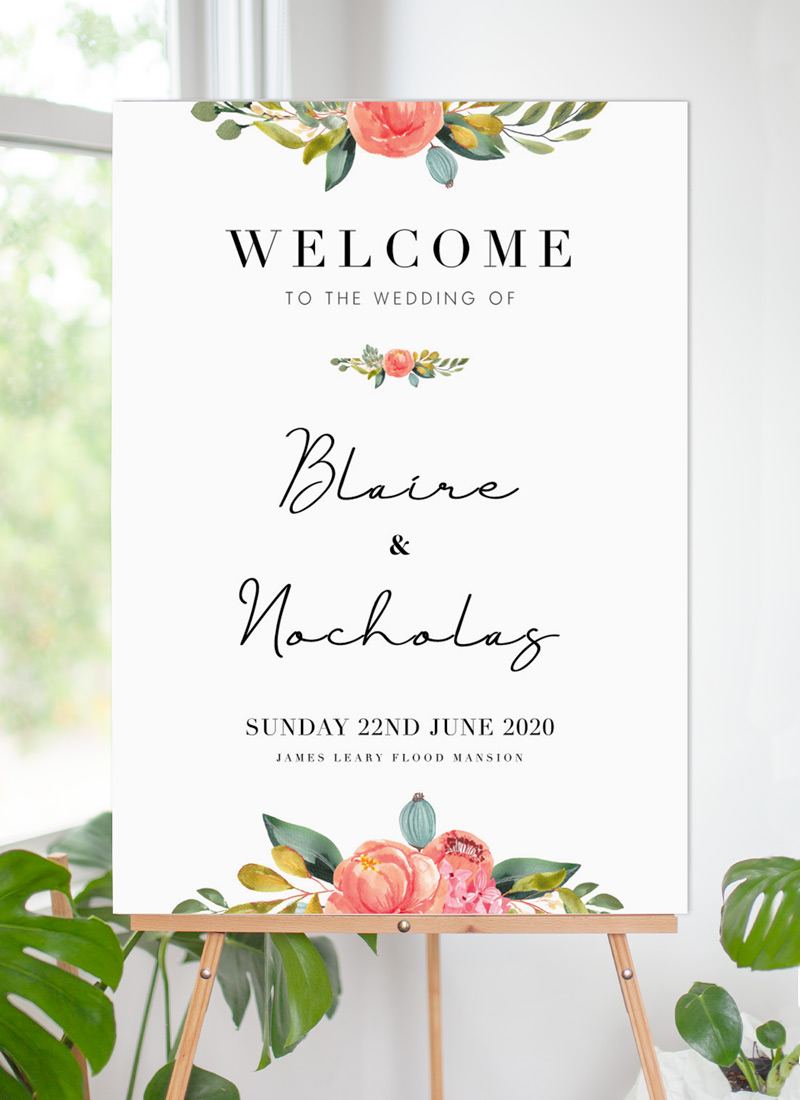 Spring Bouquet - Wedding Signs