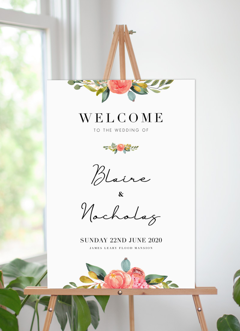 Spring Bouquet - Wedding Signs