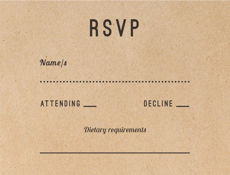 Woodstock - RSVP Cards
