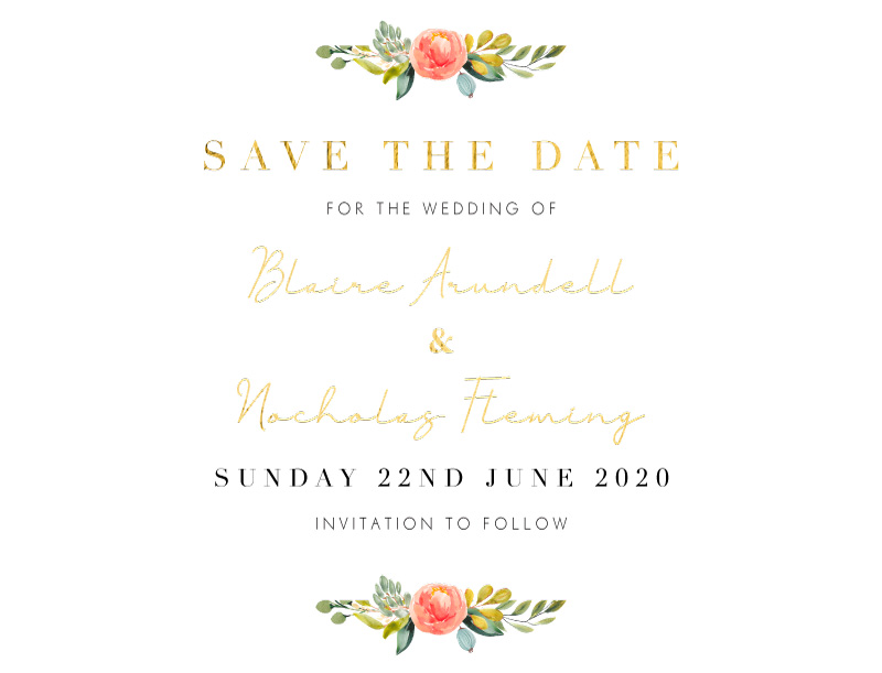 Spring Bouquet - Save The Date