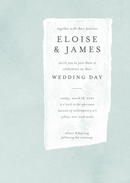 Painted Wedding Invitations - wedding invitations