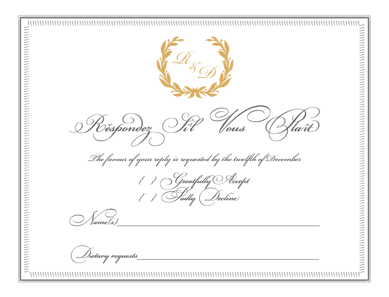 Regal Wreath - RSVP Cards