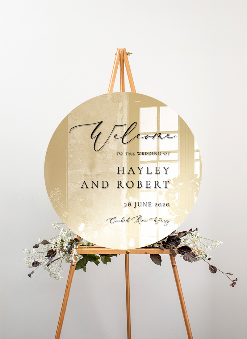 Rose Et Gris - Wedding Signs