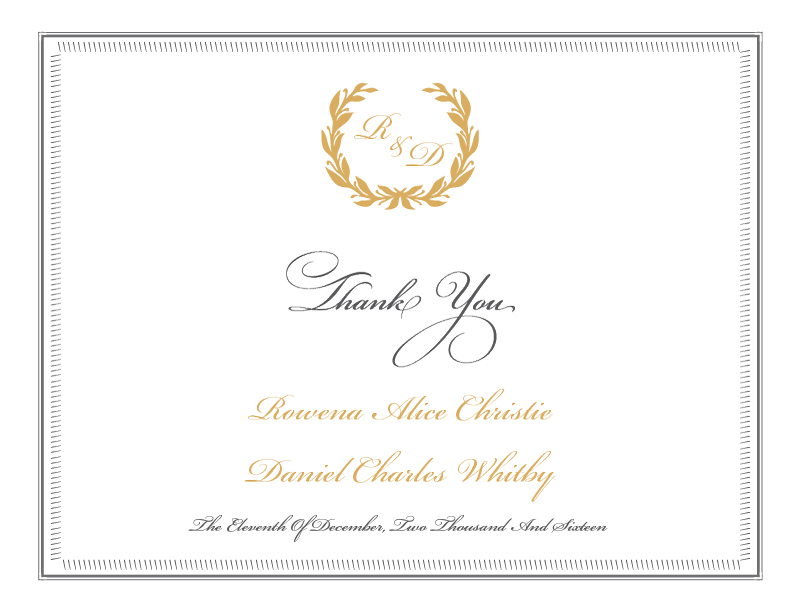 Regal Wreath - Thank You Cards