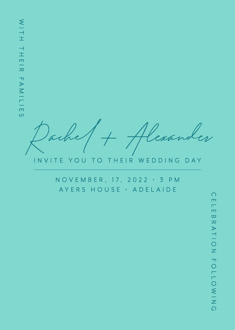 Corner To Corner - Wedding Invitations