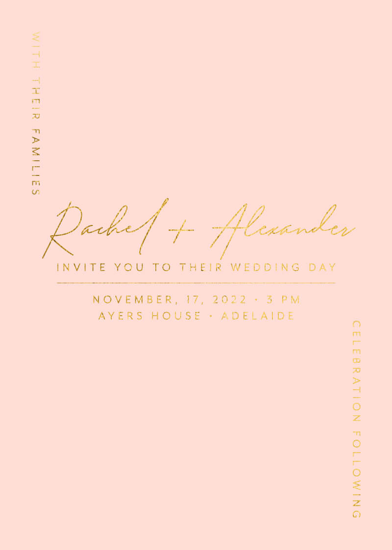 Corner To Corner - Wedding Invitations