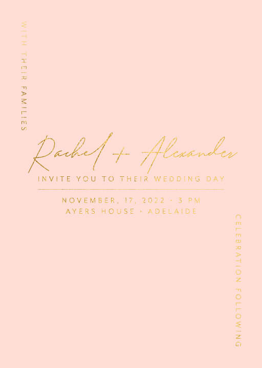 Corner To Corner Wedding Invitations - wedding invitations