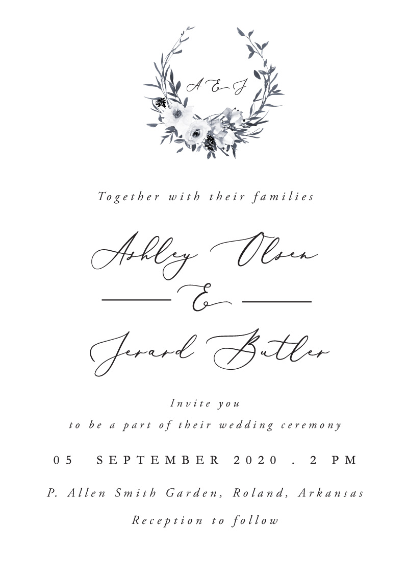 Floral Crown Classic - Wedding Invitations