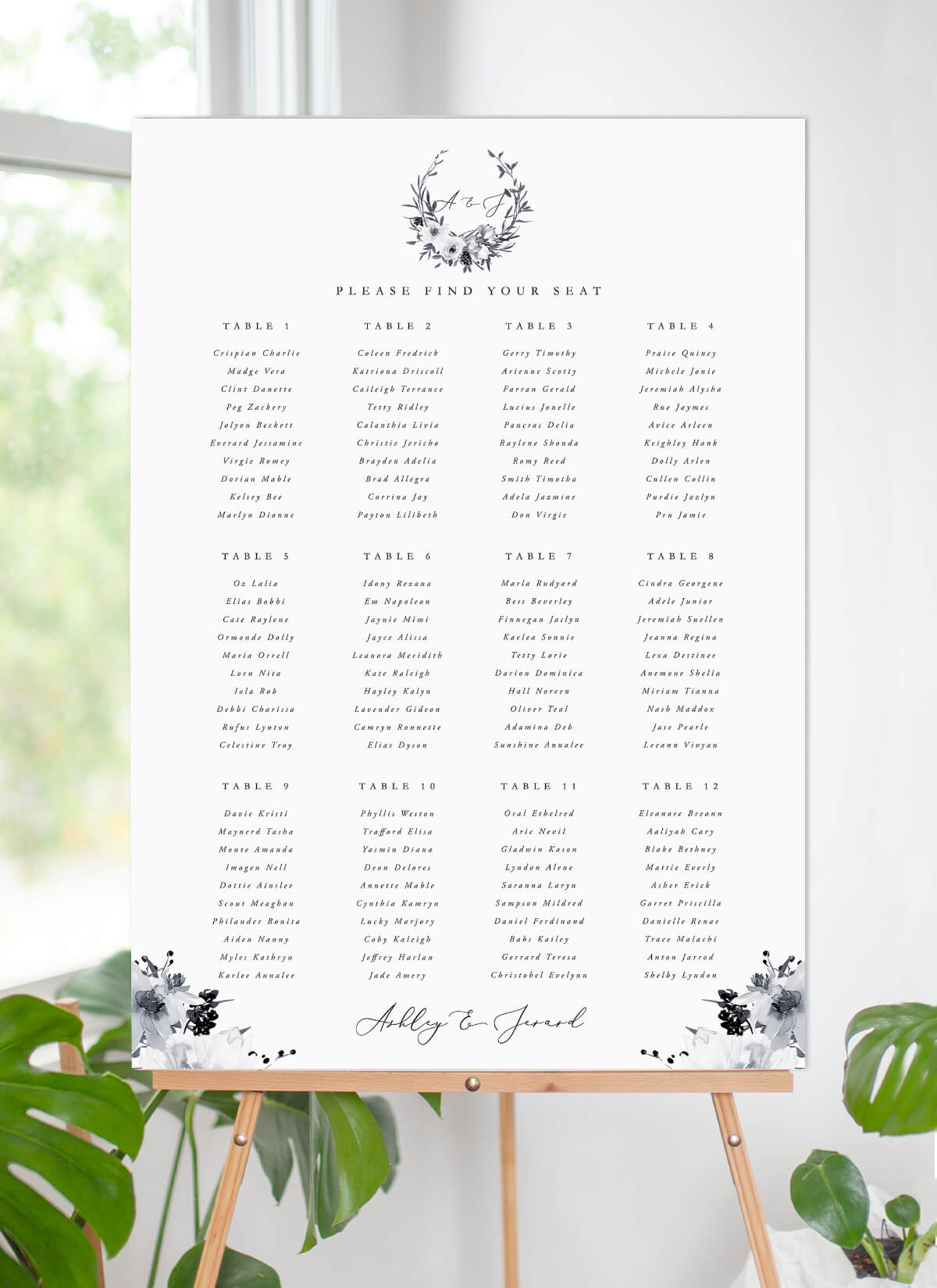 Floral Crown Classic - Seating Charts