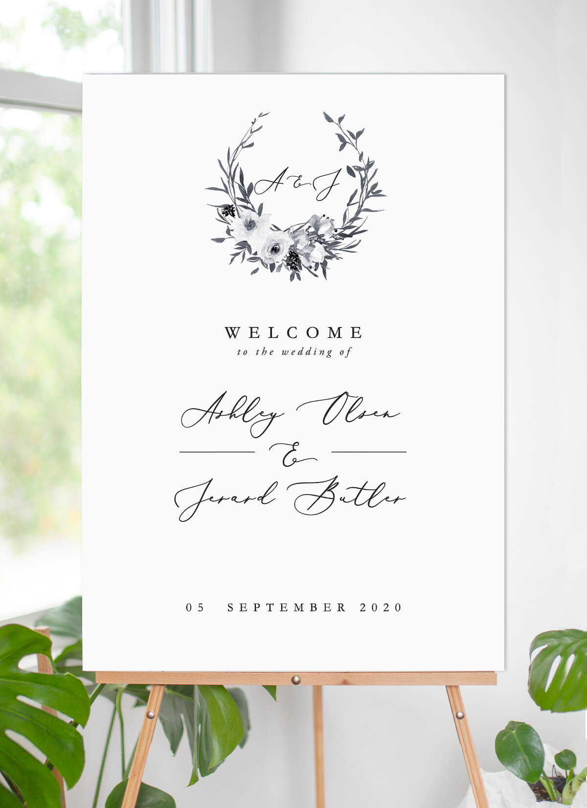 Floral Crown Classic - Wedding Signs