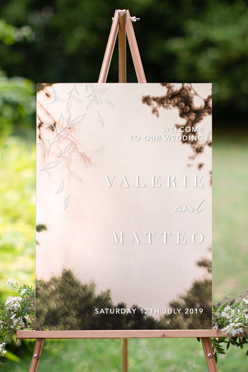 Modern Simplicity - Wedding Signs